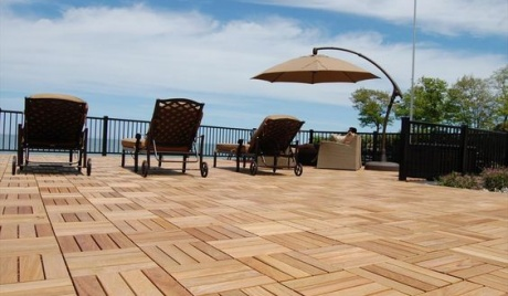 Vietnam walnut wood deck tiles
